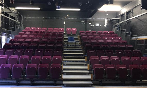 Flash Auction on Behalf of WQE College Drama Department Inc: Electronic Retractable Seating, Studio Mirrors ,Stage Curtains, Lighting Fixtures