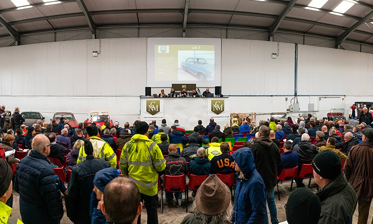 Crowds at Classic Car Auction