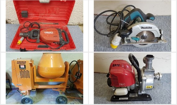 Contractors tools and equipment direct from major plc
